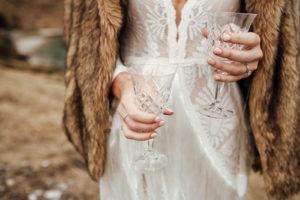 boho bride vintage champagne