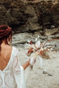 boho bridal native flowers