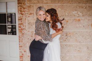 bride and makeup artist love