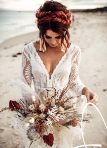 boho bride native flowers